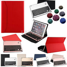 """New Backlit Bluetooth Aluminum Keyboard+Leather Case Stand For Various iPad 9.7"""""""