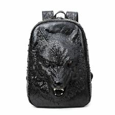 New Stylish Backpacks 3d Wolf Head Backpack Special Cool Shoulder Bags