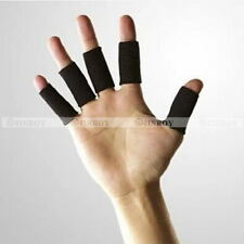 10 X Stretchy Finger Protector Sleeve Support Arthritis Sports Aid Straight