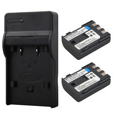 2x Camera NB-2L NB-2LH Battery + Charger For Canon PowerShot S50 S60 MV940 MV901