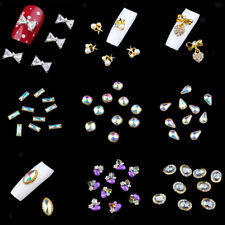 10pcs 3D Rhinestones Glitters Diamonds Gems Tips DIY Nail Art Decorations