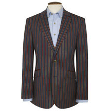 New Brook Taverner Brooking Stripe Jacket - Navy / Red Stripe - Choose Size