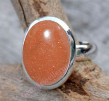 SUNSTONE GOLDSTONE RING 925 STERLING SILVER STONE GIRL WOMEN GIFT RING ALL SIZE