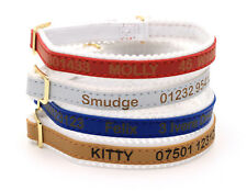 Personalised Cat Kitten Collar, Ancol Quality, Laser Engraved, Custom ID Tag