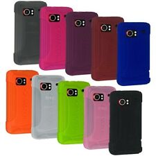 NEW AMER RUBBER SILICONE SOFT SKIN CASE COVER FOR HTC DROID INCREDIBLE PB31200