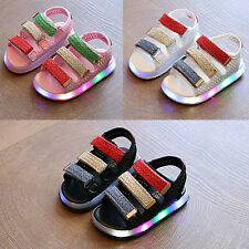 Fashion LED Kid Boys Girls Summer Sandals Child Toddler Beach Casual Shoes