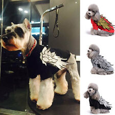 Cotton Small Medium Pet Dog Clothes T-shirt Pug Puppy Apparel Wing Embroidery