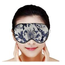 Double-Sided Silk Sleep Eye Mask Floral Print Sleeping Travel Eyewear Mask