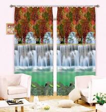 3D Waterfall 73 Blockout Photo Curtain Printing Curtains Drapes Fabric Window CA