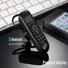 Small MINI Micro Mobile Cell Phone Unlocked GSM Bluetooth Headset 【US】Local Ship