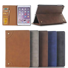 Smart Book Case Stand Leather Cover Card Slots Holder For Apple Ipad mini 1/2/3
