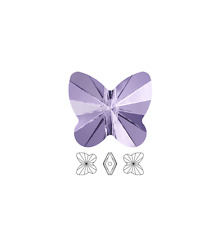 12 Swarovski Crystal Beads Faceted Butterfly 5754 8x7mm, 12 Butterfly 5754 8x7mm