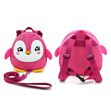 Baby Toddler Safety Backpack Anti-lost Harness Reins Penguin With Leash