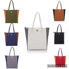 Authentic Joy Mangano Tote Genuine Leather Colorblock RFID Protection *In Colors