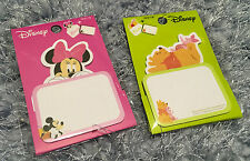 Winnie The Pooh Minnie Mouse Sticky Note Pads Message Memo Letter Cute Gift New