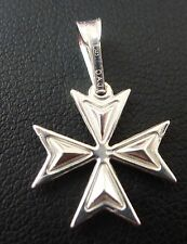 Sterling silver Maltese Cross pendant with chain Factory price! Order Of St.John