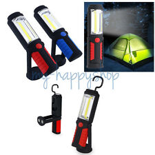 Bright LED Flashlight Torch Work Stand Light Magnetic HOOK Outdoor Camping Sport