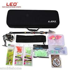 LEO Outdoor Fishing Spinning Rod Reel Tackle Tool Kit 2.1M to 3.0M