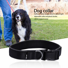 Reflective Dog Collar Durable Heavy Duty Adjustable Padded Pet Dog Collar CW
