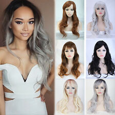 Fashion Women Full Wig Straight Wave Cosplay Party Heat Resistant Synthetic Wigs