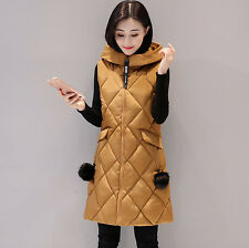 Winter Women Vest Cotton Waistcoat Outerwear Sleeveless Jackets Warm Long Tops