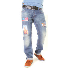 9024 Shelly & Baxx Men Jeans Trousers Pants American Style blue