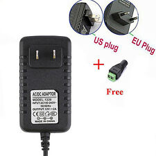 12V 2A 110-240V AC DC Power Supply Adapter Charger For 5050/3528 LED Strip Tidy