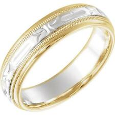 14K Two-Tone Gold Comfort Fit 6 MM Wedding Band Ring