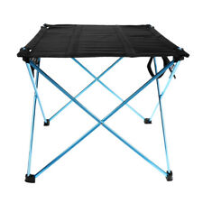 Folding Roll Up Outdoor Camping Table Picnic BBQ Beach Fishing BBQ Desk & Bag
