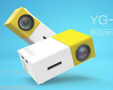 YG-300 400-600 Lumens LCD Projector 320x240 Home Media Player Yellow