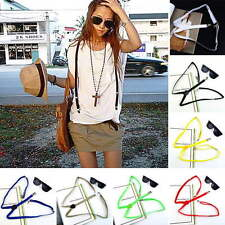 Mens Womens Clip-on Adjustable Elastic Pants Y-back Slim Suspender Belt lot DRB