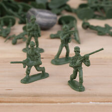 100pcs Military Plastic Toy Soldiers Army Men Figures 12 Poses Gift RB