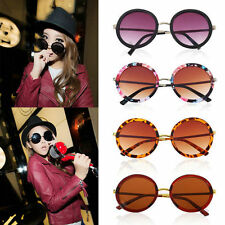 Unisex Women Fashion Retro Vintage Style Sunglasses Glasses Round Metal FraRB