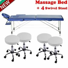 Spa Salon Massage Beauty Equipment Facial Chair Bed Tattoo w/ Adjustable Stool A