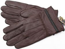 BROWN LAMBSKIN LEATHER WOMEN'S WINTER DRIVING EVERYDAY GLOVES L S XL XXL