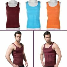 Men's Slimming Vest Top Slim Shirt Chest Belly Control Body Shapers S-XXL BR