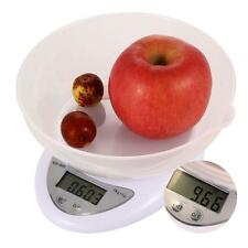 Compact Digital Kitchen Scale Diet Food 5KG 11LBS x 1g w/ Bowl Electronic WeigGB