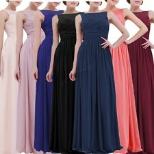 Womens Chiffon Formal Party Prom Lace Ball Gown Cocktail Bridesmaid Long Dresses
