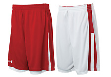 Under Armour mens Undeniable reversible Basketball Shorts  Red / White Large