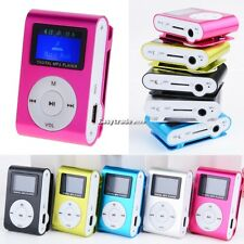 LCD Screen Mini Clip Metal Mp3 Player For 2-16GB Micro SD/TF card ES102