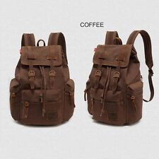 Travel Canvas Rucksack School Bags Satchel Laptop Camping Hiking Sports Backpack