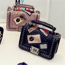 Travel PU Leather Satchel Handbag Shoulder Tote Messenger Crossbody Chain Bags