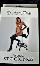 Sharon Sloane Rubber Latex collection Black Stockings Shiny Wet Look NEW