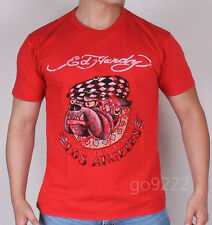 NWT-Authentic Men's Ed Hardy Bulldog-Rouge S/S T-shirt Size S