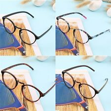 Retro Geek Vintage Nerd Large Frame Fashion Round Clear Lens Glasses ER