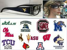 NCAA Reading Glasses Ladies Bling College Power Magnification 1-3 Pick Your Team