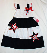 Pretty Girls 3T or 4T July 4th Memorial Day Patriotic Star Sundress Dress NEW