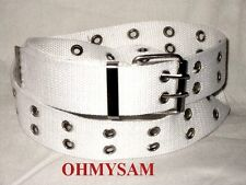 """1 NEW MULTI COLOR CANVAS PUNK GOTH STYLE BELT 36 """"LONG 1 1/2 """"WIDE ADJUSTABLE"""