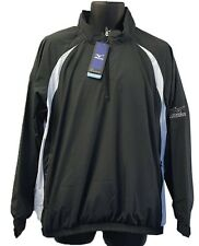 Mens Mizuno Windlite 1/4 Zip Showertop 93WT820 Black/White Brand New