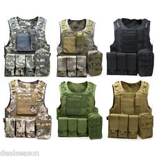 Portable Battle Tactical Military Airsoft Combat Assault Plate Carrier Vest New